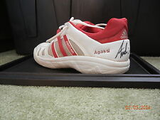 "ANDRE AGASSI AUTOGRAPHED ADIDAS SHOE AUTO  ""WORN IN LAST EVER WIMBLEDON MATCH"""