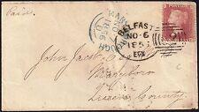 GB 1855 1d Victoria (1840-1901) sg 29 cover 62 Belfast 6 Nov 1856