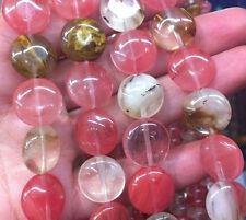14mm Perles , la pastèque, la tourmaline, pièce, pierres précieuses, lâche,38cm