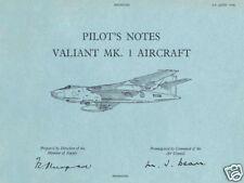 VICKERS VALIANT B.Mk.1 - PILOT'S NOTES A .P.4377A-P.N.
