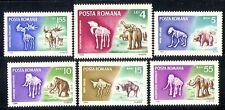 Romania 1966 Animali/FOSSILI/NATURA/MAMMUT 6 V (n30015)