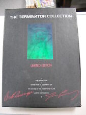 "1992 BOXED LIM/ED ""TERMINATOR"" SERIES DELUXE SET W/BOOK! 1ST 2 FILMS + MAKING OF"