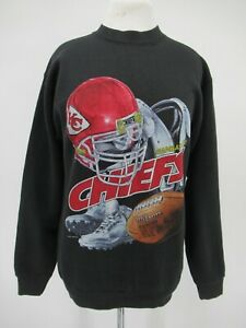 M9111 VTG Pro Player NFL Kansas City Chiefs Sweatshirt Made In USA Size 18/20