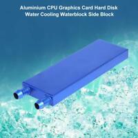 120x40x12mm Aluminum Water Liquid Cooling Block CPU Graphics Radiator Heatsink