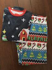 TARGET Womens FA LA LA LA Christmas Pajamas, 2 PC, Size Small, Academy Blues NWT