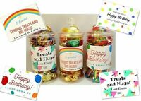 Personalised Birthday filled Sweets /Chocolate jar - Treat - Self Isolation Gift