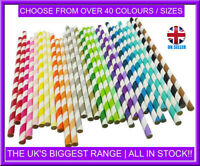"""Biodegradable 9"""" (230mm) Paper Straws - for Cocktails, Tumblers - Birthday Party"""