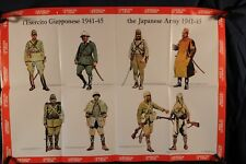Poster, Japanese Army Uniforms 1941-1945 1976 (381Oz)