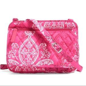 NWT Vera Bradley Petite Crossbody Bag Stamped Paisley