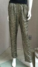 NWT Functional Woman Pants Trausers Siquins Fully Lined sZ 4 Gold Black Evening
