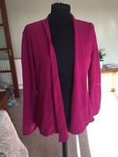 Fuchsia Pink Baby Alpaca Size M Spirit Of The Andes Cardigan Jumper Wrap