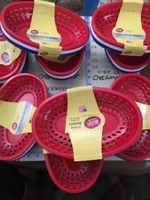 9X Tablecraft Set of 6 Serving Baskets - Red, White & Blue H1074rw8 Made In Usa