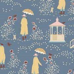TILDA - Windy Walk Blue- Windy Days - 100% Cotton Quilting fabric