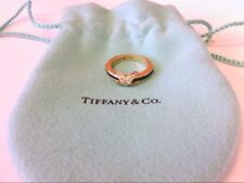 Decent Tiffany & Co 18K (750) Gold  Diamond Sapphire X Ring. 5.75 US Size.