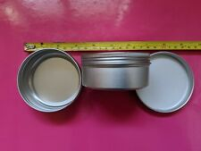 10 x 150 ml ALUMINIUM TINS JARS POTS CONTAINERS & EPE LINED Screw Lids jna10