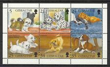 GIBRALTAR QE11 1996 DOGS MINI SHEET MINT