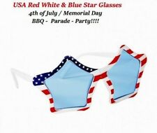 July 4th Patriotic Red White Blue Stars & Stripes Flag SunGlasses Party Parade