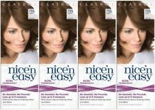 4 x CLAIROL Nice'n Easy Non Permanent 755 LIGHT BROWN ~ No Ammonia, No Peroxide