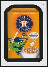 2016 TOPPS WACKY PACKAGES MLB - HOUSTON ASTROS O'S CEREAL - STICKER #5