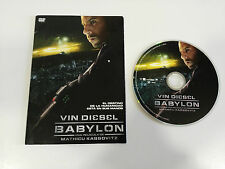 BABYLON DVD VIN DIESEL MATHIEU KASSOVITZ SOBRE CARTON CASTELLANO ENGLISH