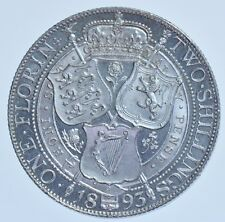 EXTREMELY RARE 1893 PROOF FLORIN BRITISH SILVER COIN VICTORIA [ONLY 1312 STRUCK]