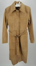 Renee Raouel Full Length Camel Leather Coat Medium