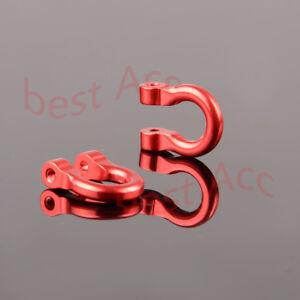 Aluminum Bumper D-Rings # 8234 / 8234R Red For RC 1/10th Traxxas TRX-4 TRX4 2P
