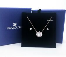 NEW SWAROVSKI Brand Rose Gold Sunshine Set Necklace Stud Earrings 5480468