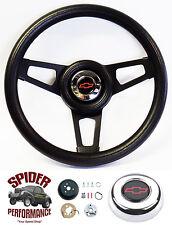 "1971-1980 Vega Monza steering wheel BOWTIE BLACK SPOKE 13 3/4"" Grant"