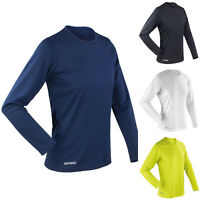 Spiro Womens Quick-Dry Sports Gym Fitness Training Running Long Sleeve T-Shirt