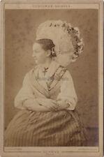 Costume Suisse Schwyz Richard Photo Zurich Vintage Albumine ca 1880