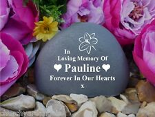 Personalised Pebble (Stone effect) - Lily - Weatherproof (FS) Free Engraving