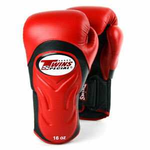 Twins BGVL6 Deluxe Boxing Gloves Muay Thai Sparring Kickboxing Red Black BGVL-6