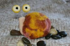 Felted snail stuffed with natural lavender