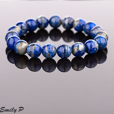 Lapis Lazuli Natural Semi Precious Gemstone Beaded Bracelet