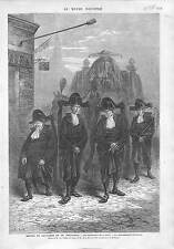 COUTUME TYPIQUE FUNÉRAILLES TYPICAL FUNERAL HOLLAND LA HAYE NETHERLANDS 1873