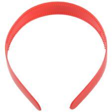 Ladies Red Plastic Teeth Hair Hoop Headband Ornament WS U7X1