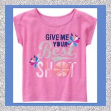 "NWT M(7-8) Gymboree ""GYMGO ACTIVE WEAR"" GLITTER SPORTS TOP Lavender Best Shot"