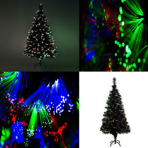 CHRISTMAS TREE STAR GREEN FIBRE OPTIC MULTI COLOR CHANGING LIGHTS WHITE PINK UK