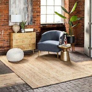 Carpet Jute Rug 100% Natural Jute Style Reversible Braided Modern Rustic Look