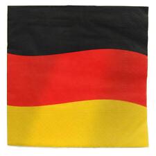 """100 Servietten  """"Deutschland"""", 33cm x 33cm Fanartikel Flagge Fahne WM 2018"""