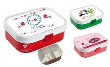 Lunchbox Brotdose Obsteinsatz mit Name Junge viele Motive zur Auswahl Blumen