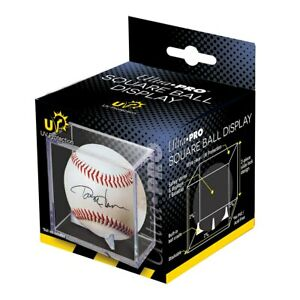 Ultra Pro Square UV Protected Baseball Holder Cube Display Case Built In Cradle