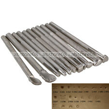 16pcs/Set Leather Working Saddle Making Tools Carving Craft Stamps Silver