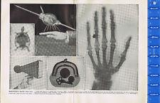 ROENTGEN RAYS - X RAYS - Crookes Tube - Skiascope -1897 Historical Science Print