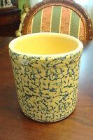 Roseville Ohio Ransbottom sponge ware pottery container [*]