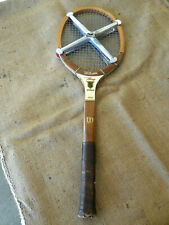 Vintage Wilson Billie Jean King-Autograph Tennis Racquet. Made in USA
