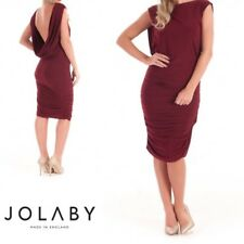 2156 JOLABY DRESS Plum Bodycon Backless Wedding Party Evening Occasion.