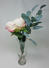 Floral Arrangement, Artificial Flowers, Home Decor, Peony in Glass Vase