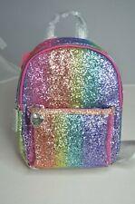 BETSEY JOHNSON, Multi-Color Miniature Rainbow Glitter Backpack, NWT, $98